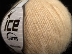Lot of 10 Skeins Ice Yarns SALE LUXURY-PREMIUM (12% Alpaca 14% Merino Wool) Yarn Dark Cream