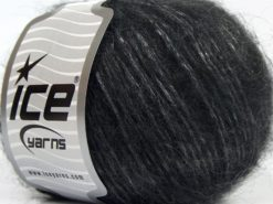 Lot of 8 Skeins Ice Yarns KID MOHAIR MERINO (20% Kid Mohair 24% Merino Wool) Yarn Anthracite Black