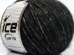 Lot of 8 Skeins Ice Yarns BONBON TWEED (10% Silk 30% Wool) Yarn Black
