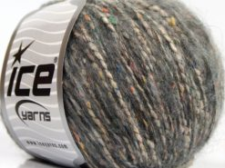Lot of 8 Skeins Ice Yarns BONBON TWEED (10% Silk 30% Wool) Yarn Grey