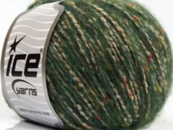 Lot of 8 Skeins Ice Yarns BONBON TWEED (10% Silk 30% Wool) Yarn Jungle Green