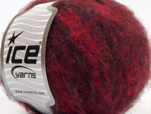 Lot of 8 Skeins Ice Yarns JAGUAR ALPACA (16% Alpaca 24% Wool) Yarn Burgundy Shades