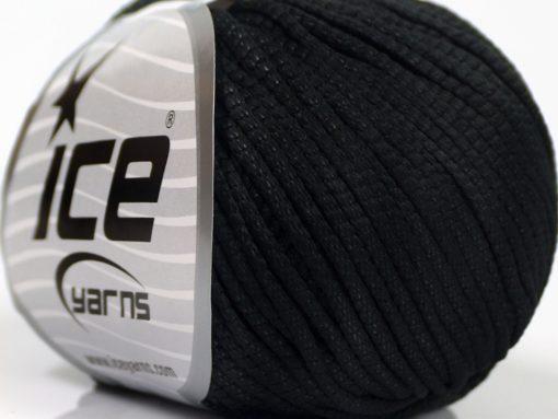 Lot of 8 Skeins Ice Yarns TUBE SOFTY Hand Knitting Yarn Black