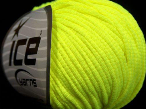 Lot of 8 Skeins Ice Yarns TUBE SOFTY Hand Knitting Yarn Neon Green