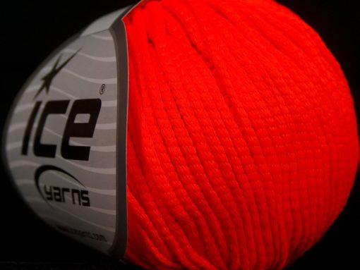 Lot of 8 Skeins Ice Yarns TUBE SOFTY Hand Knitting Yarn Neon Orange