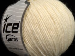 Lot of 8 Skeins Ice Yarns PERU ALPACA LIGHT (25% Alpaca 50% Merino Wool) Yarn Light Cream