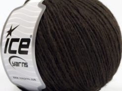 Lot of 8 Skeins Ice Yarns PERU ALPACA LIGHT (25% Alpaca 50% Merino Wool) Yarn Dark Brown