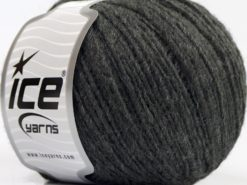 Lot of 8 Skeins Ice Yarns PERU ALPACA LIGHT (25% Alpaca 50% Merino Wool) Yarn Dark Grey