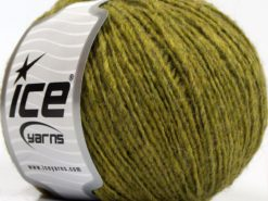 Lot of 8 Skeins Ice Yarns PERU ALPACA LIGHT (25% Alpaca 50% Merino Wool) Yarn Green