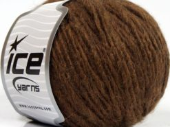 Lot of 8 Skeins Ice Yarns ETNO ALPACA (25% Alpaca 50% Merino Wool) Yarn Dark Brown