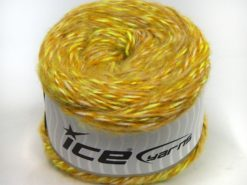 Lot of 2 x 150gr Skeins Ice Yarns CAKES ALPACA COLORS (20% Alpaca 50% Wool) Yarn Neon Green Gold Cream