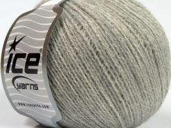 Lot of 8 Skeins Ice Yarns MASTER ALPACA FINE (25% Alpaca 25% Merino Wool) Yarn Light Grey