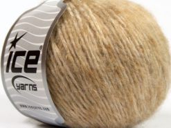 Lot of 8 Skeins Ice Yarns SALE WINTER (50% Wool) Hand Knitting Yarn Light Brown