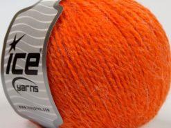 Lot of 8 Skeins Ice Yarns ANGORA COMFORT LIGHT Hand Knitting Yarn Orange