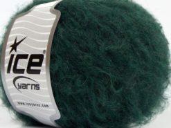 Lot of 8 Skeins Ice Yarns KAN MOHAIR LIGHT (40% Wool) Yarn Dark Green
