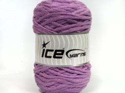 Lot of 2 x 200gr Skeins Ice Yarns NATURAL COTTON CHUNKY (100% Cotton) Yarn Light Lilac