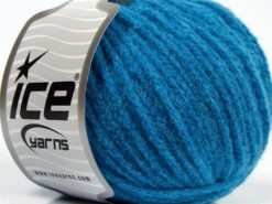 Lot of 8 Skeins Ice Yarns BABY ALPACA MERINO (30% Baby Alpaca 31% Extrafine Merino Wool) Yarn Turquoise