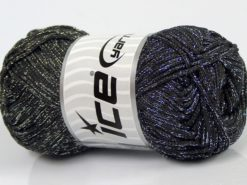 Lot of 4 x 100gr Skeins Ice Yarns MACRAME CORD Hand Knitting Yarn Black Silver