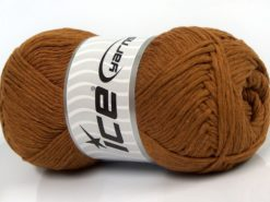 Lot of 4 x 100gr Skeins Ice Yarns NATURAL COTTON (100% Cotton) Yarn Light Brown