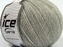 Lot of 8 Skeins Ice Yarns PERU ALPACA FINE (25% Alpaca 50% Merino Wool) Yarn Grey