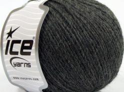 Lot of 8 Skeins Ice Yarns PERU ALPACA FINE (25% Alpaca 50% Merino Wool) Yarn Dark Grey