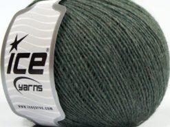 Lot of 8 Skeins Ice Yarns PERU ALPACA FINE (25% Alpaca 50% Merino Wool) Yarn Greenish Grey