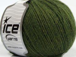 Lot of 8 Skeins Ice Yarns PERU ALPACA FINE (25% Alpaca 50% Merino Wool) Yarn Jungle Green
