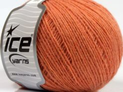 Lot of 8 Skeins Ice Yarns PERU ALPACA FINE (25% Alpaca 50% Merino Wool) Yarn Salmon