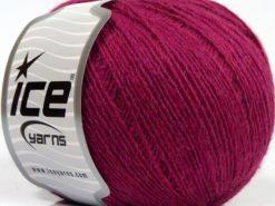 Lot of 8 Skeins Ice Yarns PERU ALPACA FINE (25% Alpaca 50% Merino Wool) Yarn Dark Fuchsia