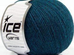 Lot of 8 Skeins Ice Yarns PERU ALPACA FINE (25% Alpaca 50% Merino Wool) Yarn Teal