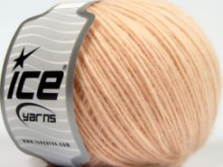 Lot of 8 Skeins Ice Yarns LEONARDO (66% Merino Wool 34% Organic Cotton) Yarn Light Salmon