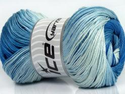 Lot of 4 x 100gr Skeins Ice Yarns CAMILLA COTTON MAGIC (100% Mercerized Cotton) Yarn Blue Shades