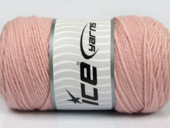 Lot of 2 x 200gr Skeins Ice Yarns SAVER Hand Knitting Yarn Powder Pink