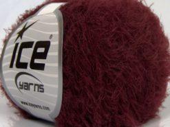 Lot of 8 Skeins Ice Yarns SALE EYELASH Hand Knitting Yarn Burgundy