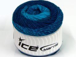 Lot of 2 x 150gr Skeins Ice Yarns CAKES ALPACA WORSTED (20% Alpaca 25% Wool) Yarn Turquoise Shades