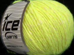 Lot of 8 Skeins Ice Yarns ALPACOT (13% Alpaca 15% Wool) Yarn Neon Green