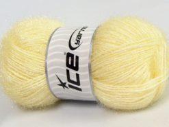 Lot of 4 x 100gr Skeins Ice Yarns SPARKLE Hand Knitting Yarn Light Yellow