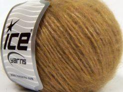 Lot of 8 Skeins Ice Yarns KID MOHAIR MERINO (20% Kid Mohair 24% Merino Wool) Yarn Milky Brown