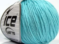 Lot of 8 Skeins Ice Yarns BABY SUMMER DK (50% Cotton) Yarn Light Turquoise