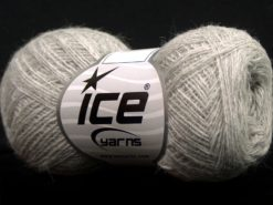 Lot of 10 Skeins Ice Yarns PERU ALPACA SUPERFINE (25% Alpaca 50% Merino Wool) Yarn Grey