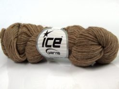 Lot of 4 Skeins Ice Yarns BABY ALPACA NATURAL COLORS (55% Baby Alpaca 45% Superwash Extrafine Merino Wool) Yarn Light Camel