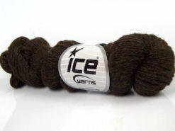 Lot of 4 Skeins Ice Yarns BABY ALPACA NATURAL COLORS (55% Baby Alpaca 45% Superwash Extrafine Merino Wool) Yarn Dark Brown