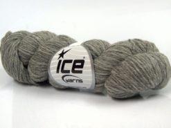 Lot of 4 Skeins Ice Yarns BABY ALPACA NATURAL COLORS Hand Knitting Yarn Grey