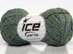 Lot of 8 Skeins Ice Yarns DENIM FINE (100% Cotton) Yarn Jeans Blue Light Green