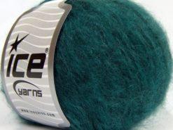 Lot of 8 Skeins Ice Yarns KID MOHAIR MERINO (20% Kid Mohair 24% Merino Wool) Yarn Emerald Green