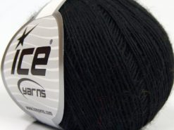 Lot of 8 Skeins Ice Yarns PURE WOOL FINE (100% Wool) Hand Knitting Yarn Black