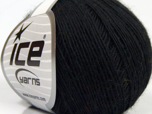 Lot of 8 Skeins Ice Yarns PURE WOOL FINE (100% Wool) Hand Knitting Yarn Black