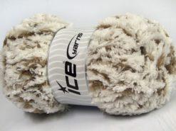 Lot of 4 x 100gr Skeins Ice Yarns PANDA DUO (100% MicroFiber) Yarn Ecru Mink
