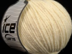 Lot of 8 Skeins Ice Yarns BABY ALPACA MERINO (30% Baby Alpaca 31% Extrafine Merino Wool) Yarn Cream