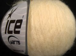 Lot of 6 Skeins Ice Yarns SUPERKID MOHAIR (31% Superwash Extrafine Merino Wool) Yarn Dark Cream
